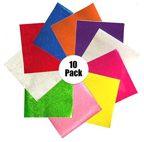 Styletech ST-Glitter-10P Glitter Vinyl, Multicolor 10 Pack
