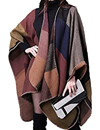 Oversized Blanket Poncho Cape Open Front Shawl Cardigans Winter Warm Warm Scarf