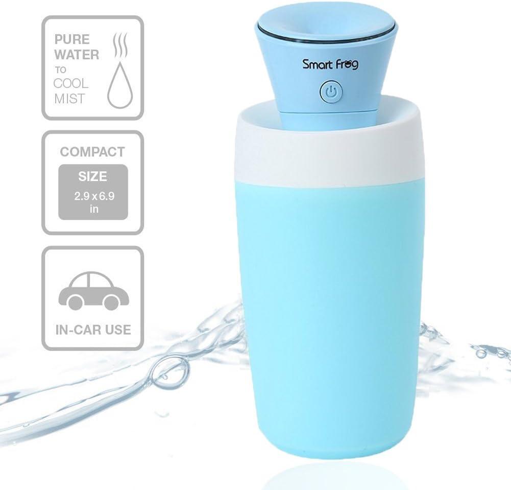 Humidificador ultrasónico Cool Mist (Multi a la Coche, casa, Oficina, SPA, Diseño de Dormitorio, Sala de bebé) Viaje Personal USB Mini Purificador de Aire Portátil ...
