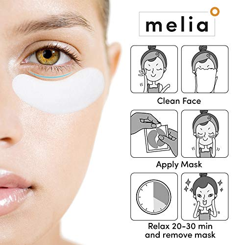 51YipLIUdQL - MELIA Under Eye Patches Eye Mask for Puffy Eyes, Dark Circles and Under Eye Bags Treatment With Hyaluronic Acid and Snail Slime Extract
