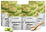 Amazi Dried & Roasted Plantain Chips – Salted Olive Oil Flavor – Organically Grown, Fair Trade, Gluten-Free, Certified Vegan Chips – Paleo Friendly Healthy Snacks – Uses Heart-Healthy Fats – 4 Pack Review