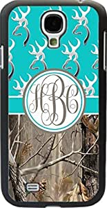 Aqua Buck Head #2 Country Girl Camo Monogram Case Cover For Samsung Galaxy S4