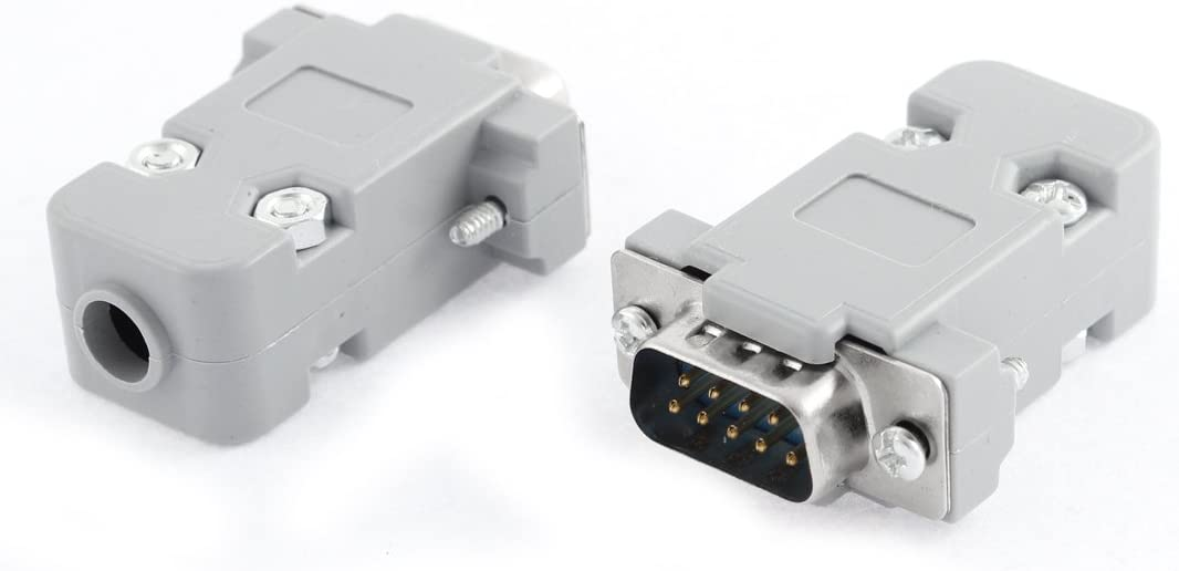 Set of 25 9-Pin Male Connector with Hood