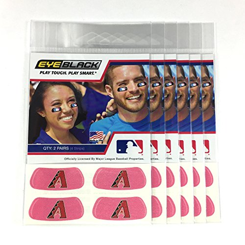 (24 Strips) Eye Black - Arizona Diamondbacks MLB Eye Black Anti Glare Strips, Great for Fans & Athletes on Game Day