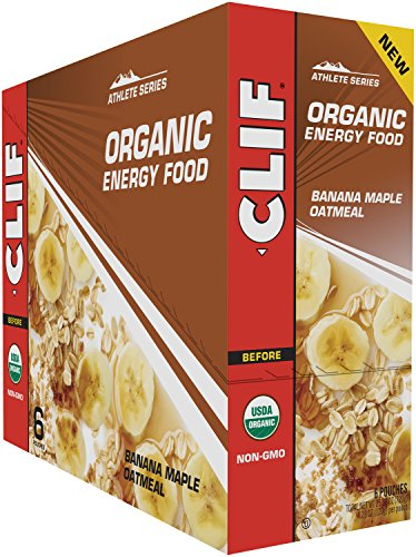 CLIF Organic Energy Food – Oatmeal Pouches – Banana Maple Oatmeal – (4.23 Ounce Pouch, 6 Count)