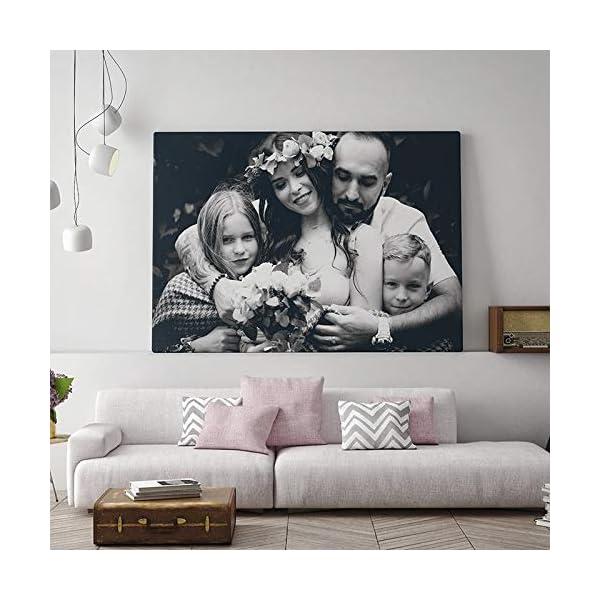 DON LETRA Cuadro en Lienzo Personalizado con Foto o Imagen, 40 x 30 cm, Impresión en Lienzo sobre Bastidor, Cuadros de… 12