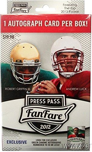 ARE Football Factory Sealed Retail Box with Autographed Rookie Card (Press Pass Football Box)