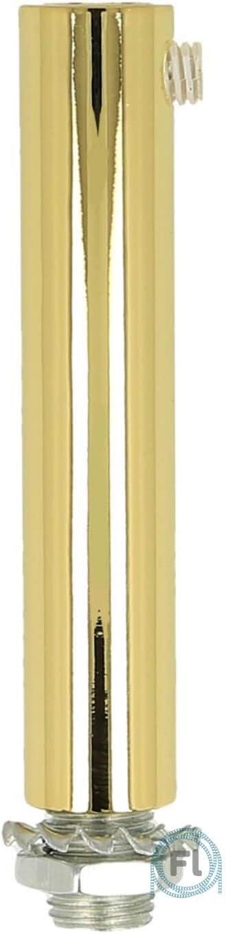 Klemmnippel Zugentlastung aus Metall f/ür Textilkabel m10 mit Innengewinde zum Lampenbau 7cm schwarz