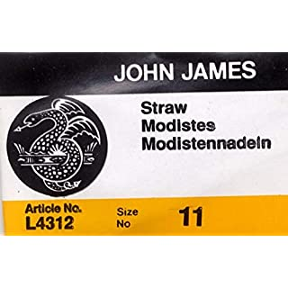 Colonial Needle L4312-11 25 Count John James Milliners/Straw Uncarded Needles, Size 11