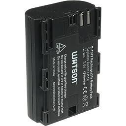 Watson LP-E6 Lithium-Ion Battery Pack (7.4V, 1750mAh) -Replacement for Canon LP-E6 Battery for Canon cameras EOS:5D Mark II , 5D Mark III , 60D , 60Da , 70D , 6D , 7D , 7DSV