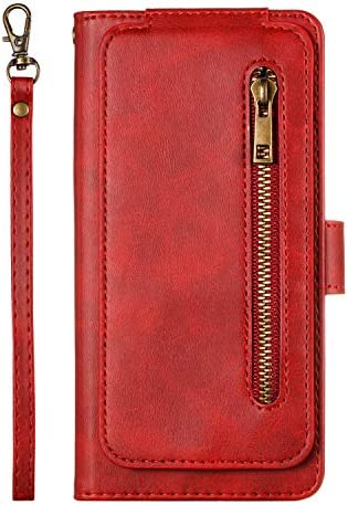 Lomogo Galaxy S8+ / docomo SC-03J / au SCV35 ケース 手帳型 耐衝撃 レザーケース 財布型 カードポケット スタンド機能 マグネット式 ギャラクシーS8プラス 手帳型ケース カバー 人気 - LOYTE040177 赤