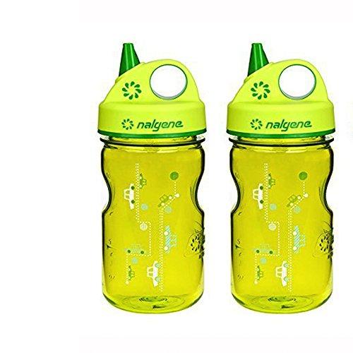 Nalgene Grip 'n Gulp Kids Travel Water Bottle - 12 Ounce - G