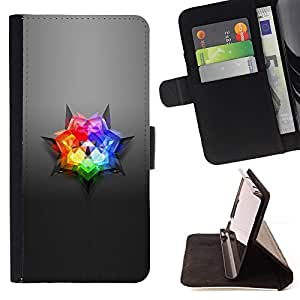 Jordan Colourful Shop - gray grey floral rainbow For Sony Xperia Z2 D6502 - Leather Case Absorci???¡¯???€????€?????????&At