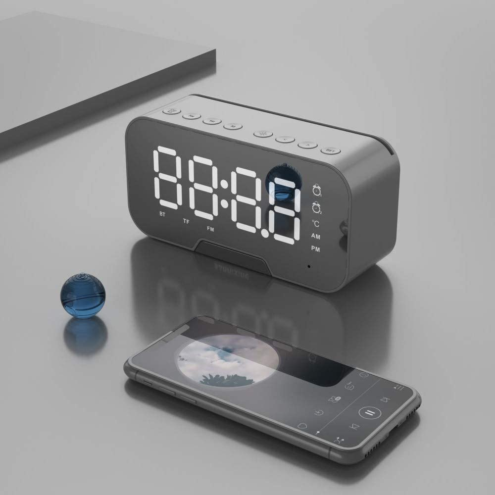Clock Radio Wireless Bluetooth Speaker Portable Small Amazon Co Uk Electronics