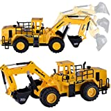 6 Channel RC Remote Control Construction Excavator Truck Toy Car Gift for Boys Kids Children
