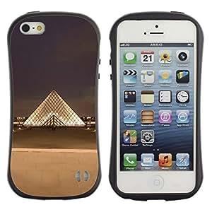 Suave TPU GEL Carcasa Funda Silicona Blando Estuche Caso de protección (para) Apple Iphone 5 / 5S / CECELL Phone case / / Paris Museum Louvre City /