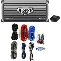 Boss Audio AR2000M 2000W MONO A/B Car Amplifier Remote+ 8 Gauge Amp Install Kit