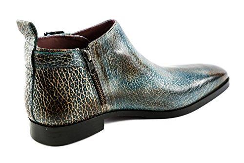 Melvin & Hamilton MH15-1247, Chaussures de Ville à Lacets pour Homme Bleu Bleu
