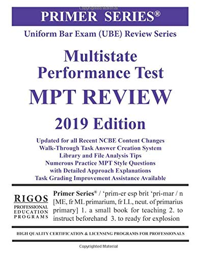 Pdf Law Rigos Primer Series Uniform Bar Exam Ube Review Series Multistate Performance Test Mpt Review (Volume 4)