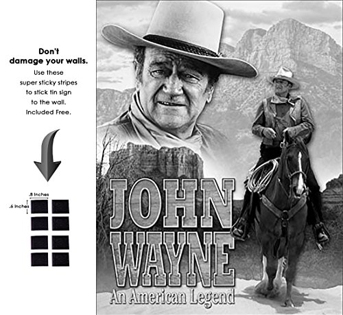 Shop72 - Hollywood Movie Tin Sign John Wayne an American Legend Tinsign -