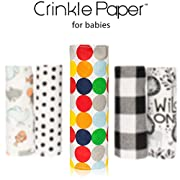 Hyak Designs Crinkle Paper | Infant Crinkle Toy, Baby Sensory Toy,, Made In USA, Baby Sound Toy, Baby Crinkle Paper, Fun for Boy or Girl, Crinkle Toy, New Fun Modern, Toddler - 1 Paper