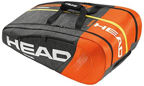 Head Radical 9R Supercombi Tennis Bag-Orange/Charcoal