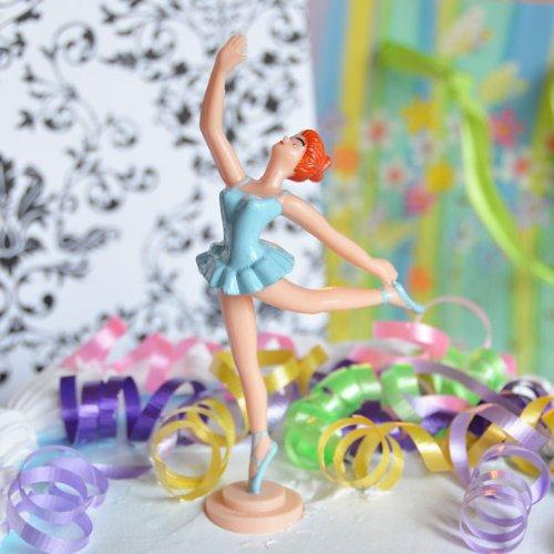 Ballerina Stand - Large Ballerina Cake Topper (2 Count) - Blue