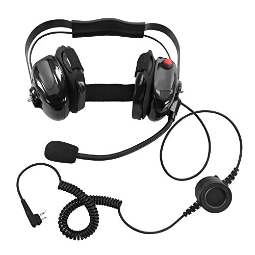 BOMMEOW BHDH50-BK-M1A Two Way Radio Noise Isolating Dual Muff Headset for Motorola CP200 CP125 Bearcom BC120 BC95 by Bommeow (Image #1)