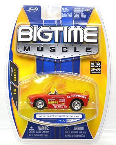 JadaTOYS 1: 64scale BIGTIME MUSCLE 67 SHELBY GT-500 PEDAL CAR (red) Jeidatoizu one sixty-four scale Big Time Muscle, 1967 Shelby GT-500 pedal car (red) [parallel import goods] ()
