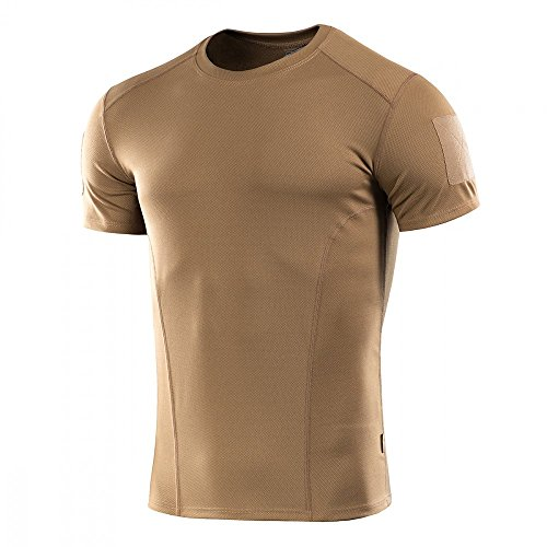 M-Tac Mens Tactical Shirt Athletic T-Shirt Sport Training Military Short Sleeve (Coyote Brown, L)