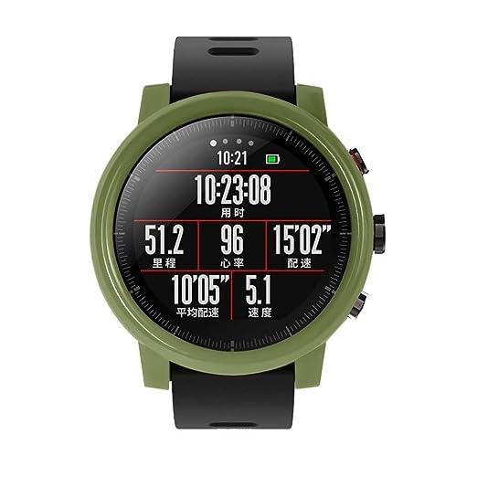 Funda PC Carcasa para Xiaomi Huami AMAZFIT 2/2S Stratos Reloj con Protector de Pantalla: Amazon.es: Relojes