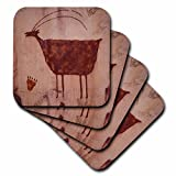 3dRose USA, Utah, Moab, Petroglyphs - US45 PWA0004 - Patrick J. Wall - Ceramic Tile Coasters, set of 4 (cst_94838_3)