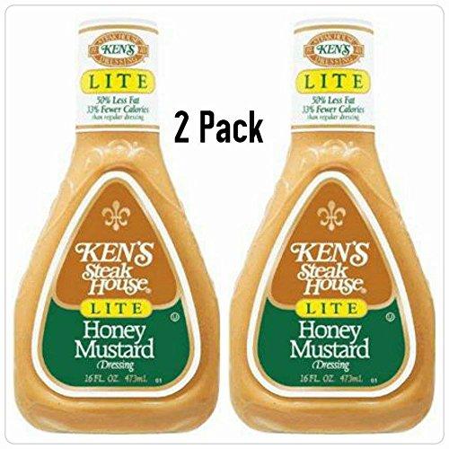 (Ken's Steak House Honey Mustard Lite Dressing 16 Oz. (Pack of 2))