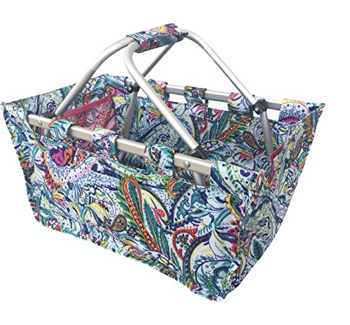 DandyLines All Purpose Carryall Collapsible Utility Market Tote (Multicolor Paisley) ()