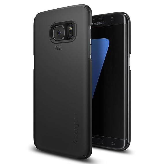 new concept 863f1 49716 Spigen Thin Fit Designed for Samsung Galaxy S7 Edge Case (2016) - Black