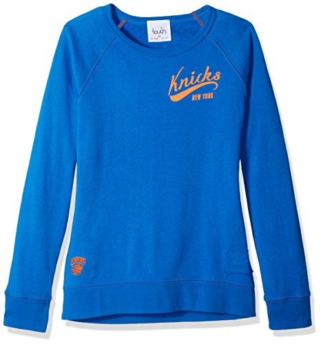 Touch by Alyssa Milano NBA New York Knicks Women's Dugout Reversible Pullover Sweatshirt, Large, Royal