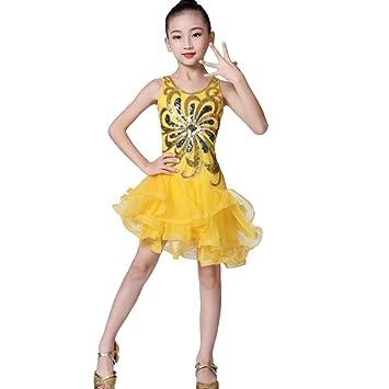 Vestido de Baile Latino para niñas, Vestido de tutú con Estampado ...