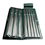 """Celine lin 11sizes 13.5 inch""""(34cm) Stainless Double Pointed Knitting Needles in case UK6-16"""