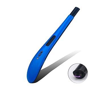 VinMas - Mechero USB eléctrico, sin llama, resistente al viento, quemador de gas