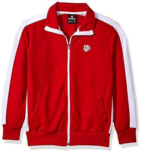 Athletic Kids Track Jacket - Southpole Boys' Big' Full-Zip Athletic Track Jacket, red, Large
