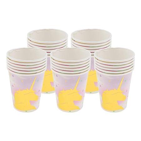 Vasos de papel Estampado de Unicornio Purpurina Tazas ...