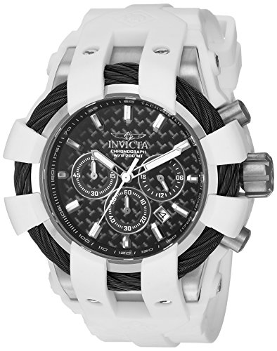Men's 'Bolt' Quartz Stainless Steel and Silicone Casual Watch, Color:White (Model: ) - Invicta 23856