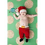 Baby Christmas Santa Claus Outfit - Hat, Pants & Elf Booties
