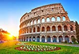 italian background - AOFOTO 7x5ft Ancient Colosseum Ruins Backdrop European Vintage Architecture Garden Fence Photography Background Roman Empire Amphitheatre Italian Travel Sunlight Wedding Photo Studio Props Wallpaper