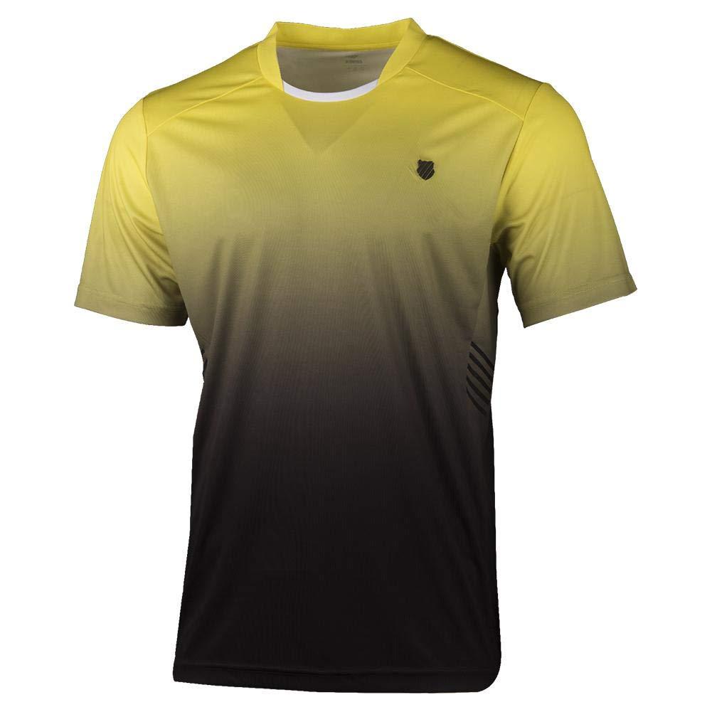 K-Swiss Men`s Hypercourt Express Tennis Crew Yellow and Black (Medium)
