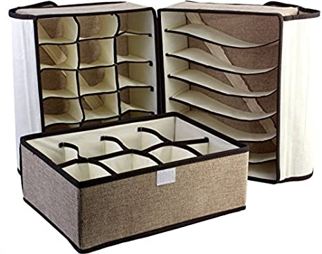 dc20ab29b0 Sterling Lingerie Storage Case with Lid Cover -Pack of 3  Amazon.in  Home    Kitchen