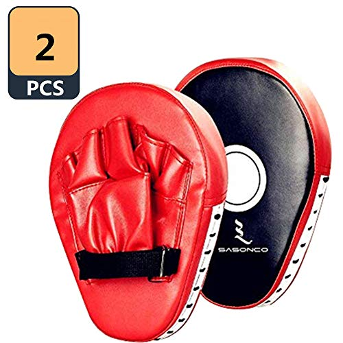 Sasonco Leather Boxing Gloves Mitts Training Target Focus Punch Pads