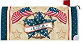 Patriotic Star - Mailbox Makover Cover - Vinyl witn Magnetic Strips for Steel Standard Rural Mailbox - Copyright, Licensed and Trademarked by Custom Decor Inc.