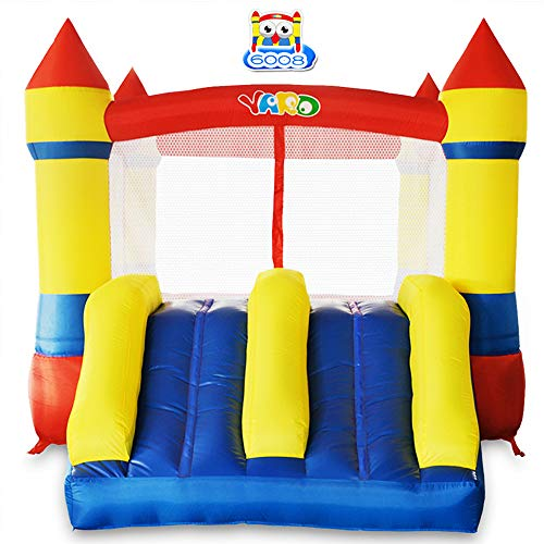 YARD Bounce House Dual Slide w/ Heavy Duty Blower Indoor Outdoor Moonwalk Inflatable Bouncer Made of Nylon and Vinyl Extra Thick Bouncing Floor