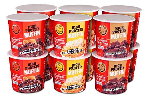 Stud Bites | High-Protein Muffin | 25g Protein, 9g Net Carbs (Variety, 12-Pack) ()